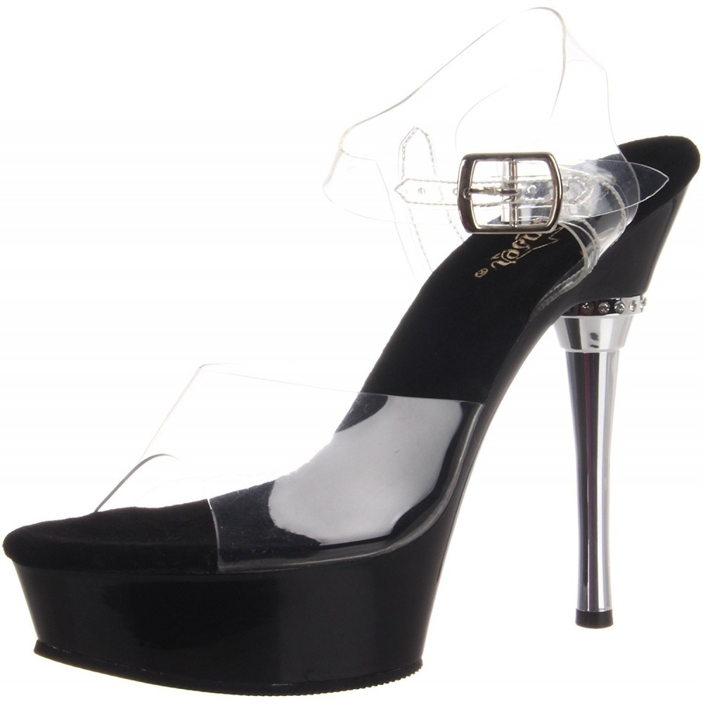 Scarpe pole dance pleaser allure 608 nere